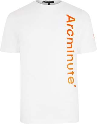 River Island Mens Arcminute White logo T-shirt