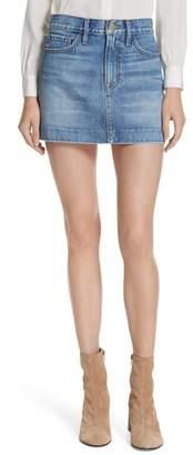 Frame Le Mini Blind Stitch Denim Skirt