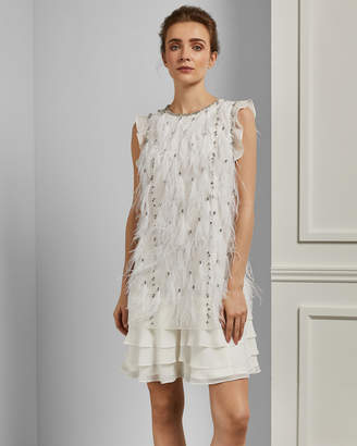 Ted Baker FLLEUR Feather tunic dress