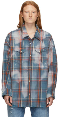 R 13 Blue and Red Oversized Cowboy Shirt