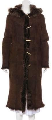 Bottega Veneta Leather Long Coat