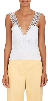 Alberta Ferretti Women's Crochet V-Neck Top