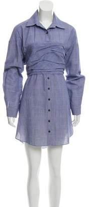 Rosie Assoulin Open Back Mini Shirtdress