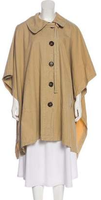 See by Chloe Point Collar Button Cape