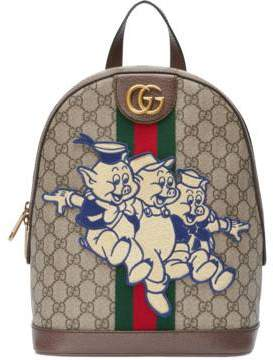 Gucci Ophidia GG backpack with Three Little Pigs