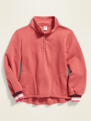 Old Navy Mock-Neck 1/4-Zip Pullover for Girls