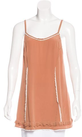 Miu Miu Miu Miu Sleeveless Silk Top