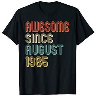 Awesome Since August 1985 T-Shirt Retro 33rd Birthday Tee