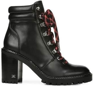 Sam Edelman Sade Moto Lace-Up Moto Leather Booties