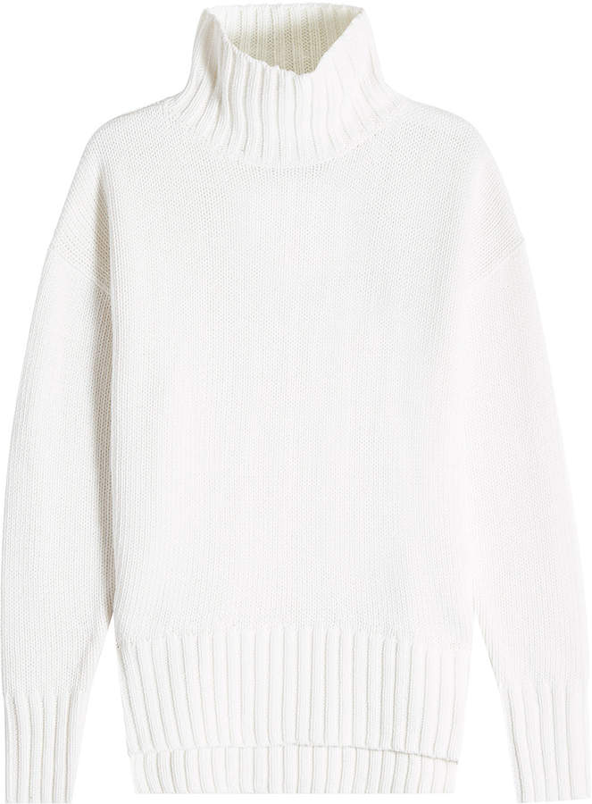 Joseph Sloppy Joe Turtleneck Pullover with Cotton and Cashmere