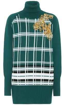 Miu Miu Virgin wool turtleneck dress