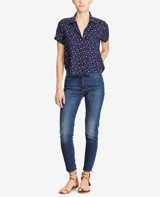 Denim & Supply Ralph Lauren Cropped Star-Print Shirt $69.50 thestylecure.com