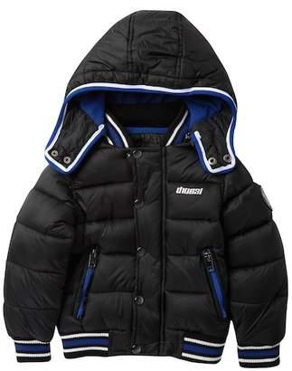 Diesel Hooded Bubble Fleece Lined Jacket (Toddler Boys)