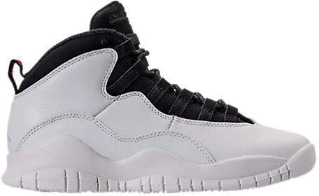 Kids' Grade School Air Jordan Retro 10 Basketball Shoes, White