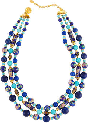 Jose & Maria Barrera Triple-Strand Beaded Necklace