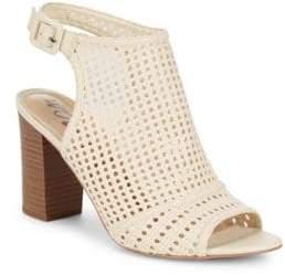 Sam Edelman Evie Basket-Weave Leather Sandals