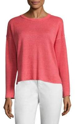 Eileen Fisher Organic Linen Knit Box Top