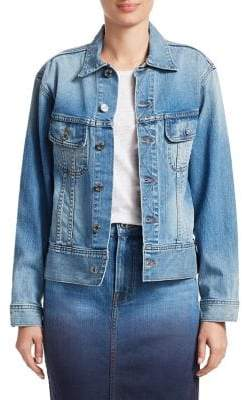 Oscar de la Renta Applique Denim Jacket
