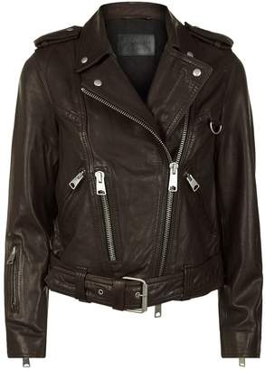 AllSaints Gidley Leather Biker Jacket