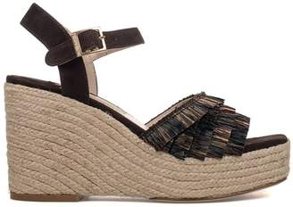 Paloma Barceló Brown Puget Suede Wedge Sandal
