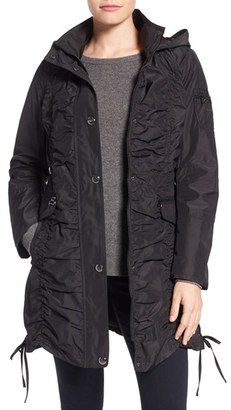 Laundry by Shelli Segal Shirred Raincoat $148 thestylecure.com