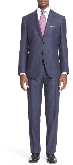 CanaliMen's Canali Classic Fit Solid Wool Suit