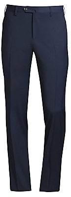 Pt01 Men's Traveler Flat Front Techno Wool Trousers