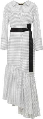 Hellessy Harley Asymmetric Long-Sleeve Cotton Dress