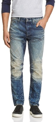 G-STAR RAW 5620 3D Moto Slim Straight Fit Jeans in Dark Aged $190 thestylecure.com