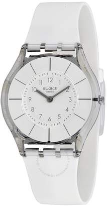 Swatch White Classiness White Silicone Ladies Watch