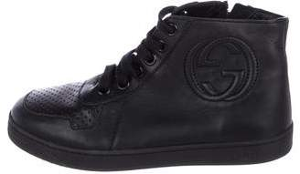 Gucci Boys' Leather High-Top Sneakers