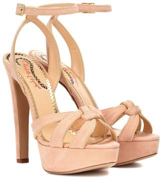 Charlotte Olympia It Girl suede plateau sandals