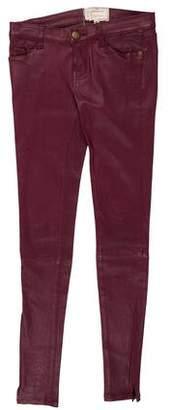 Current/Elliott Low-Rise Leather Pants