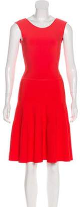 Issa Sleeveless Knee-Length Dress Orange Sleeveless Knee-Length Dress