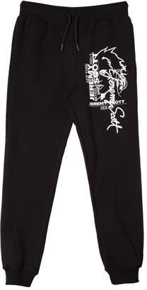 Jeremy Scott Logo Printed Cotton Fleece Pants