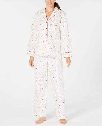 Charter Club Cotton Printed Flannel Pajama Set