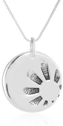 """DAY Birger et Mikkelsen Sterling """"Nothing Is Worth More Than This Carpe Diem"""" Reversible Pendant Necklace"""
