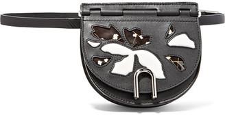 3.1 Phillip Lim - Hana Convertible Patent And Matte-leather Belt Bag - Black $650 thestylecure.com
