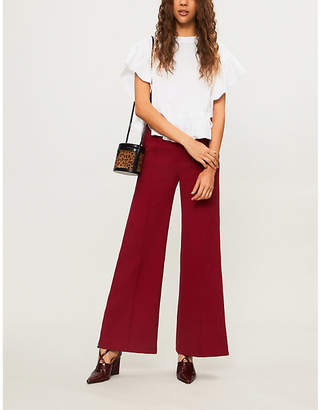 See by Chloe Frilled cropped cotton-jersey T-shirt