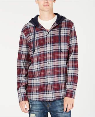 American Rag Men Classic Fit Hooded Fallon Plaid Shirt