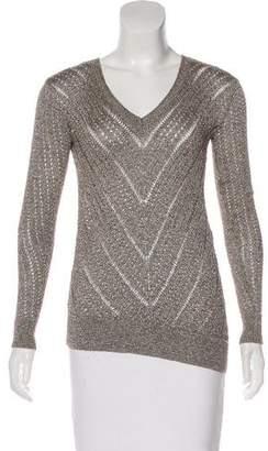 BCBGMAXAZRIA Long Sleeve Metallic Sweater w/ Tags