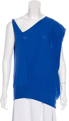 Zero Maria Cornejo Asymmetrical Short Sleeve Top