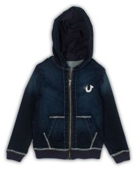True Religion Toddler's, Little Boy's & Boy's Cotton French Terry Logo Hoodie $89 thestylecure.com