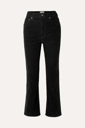 A Gold E AGOLDE - Pinch Waist Cotton-blend Corduroy Flared Pants - Black