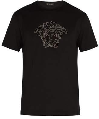 Versace Medusa Head T Shirt - Mens - Black
