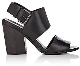 Marsèll WOMEN'S LEATHER DOUBLE-BAND SANDALS-BLACK SIZE 7