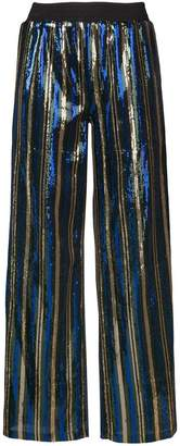 Robert Rodriguez striped straight trousers