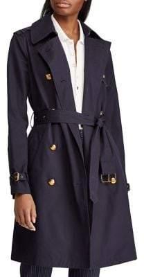 Lauren Ralph Lauren Double-Breasted Cotton Trench Coat