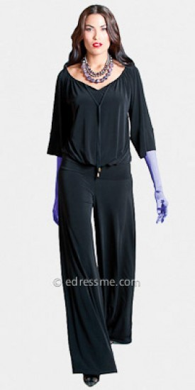 Comfortable Black Jumpsuits by Julian Chang