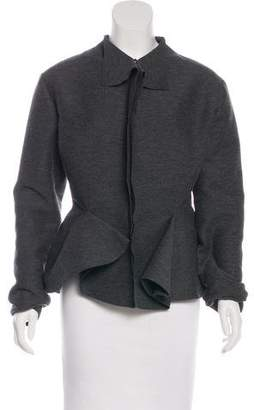 Lanvin Wool Asymmetrical Jacket